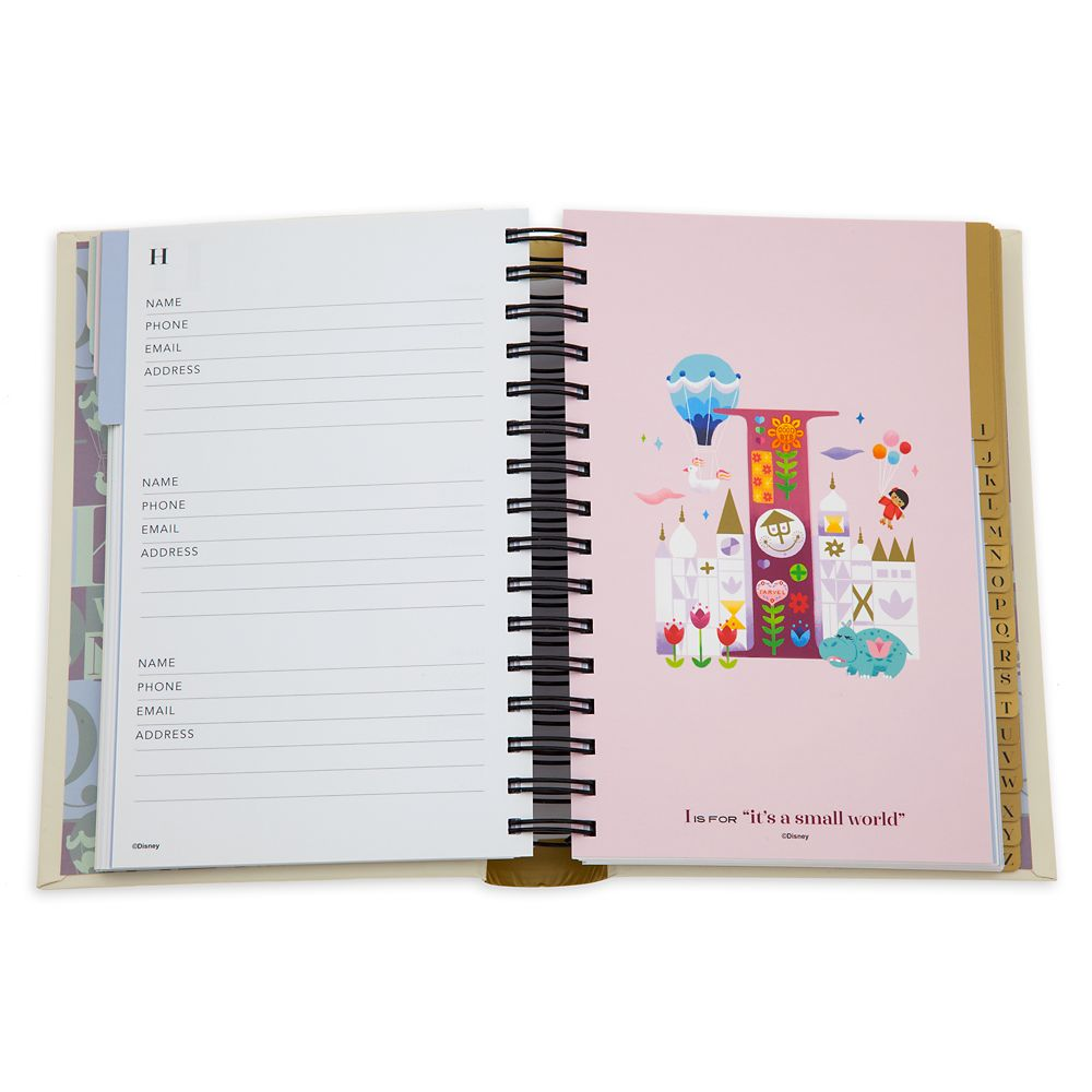 Disney Parks ABC Address Book