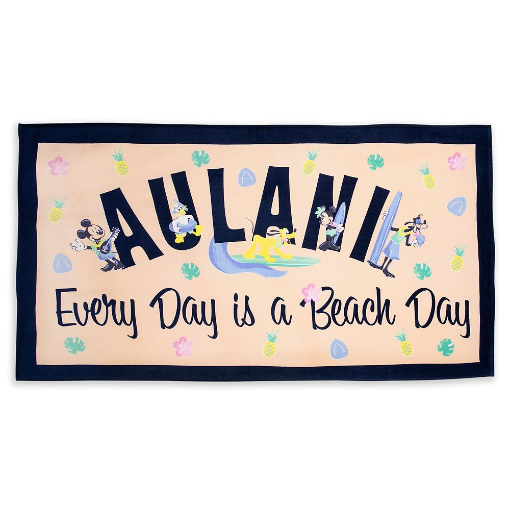 Mickey Mouse and Friends Beach Towel – Aulani, A Disney Resort & Spa