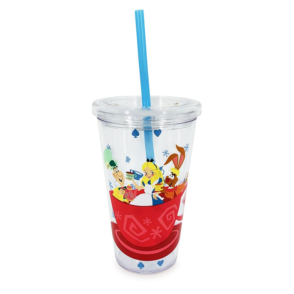 Mad Tea Party Tumbler with Straw