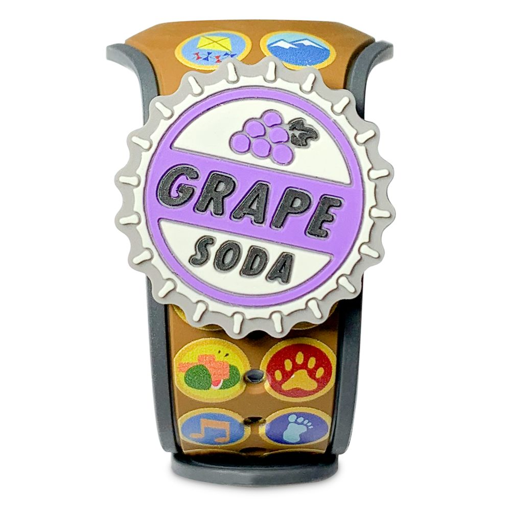 Up Wilderness Explorer Patches MagicBand 2 and Grape Soda Cap MagicBandIt