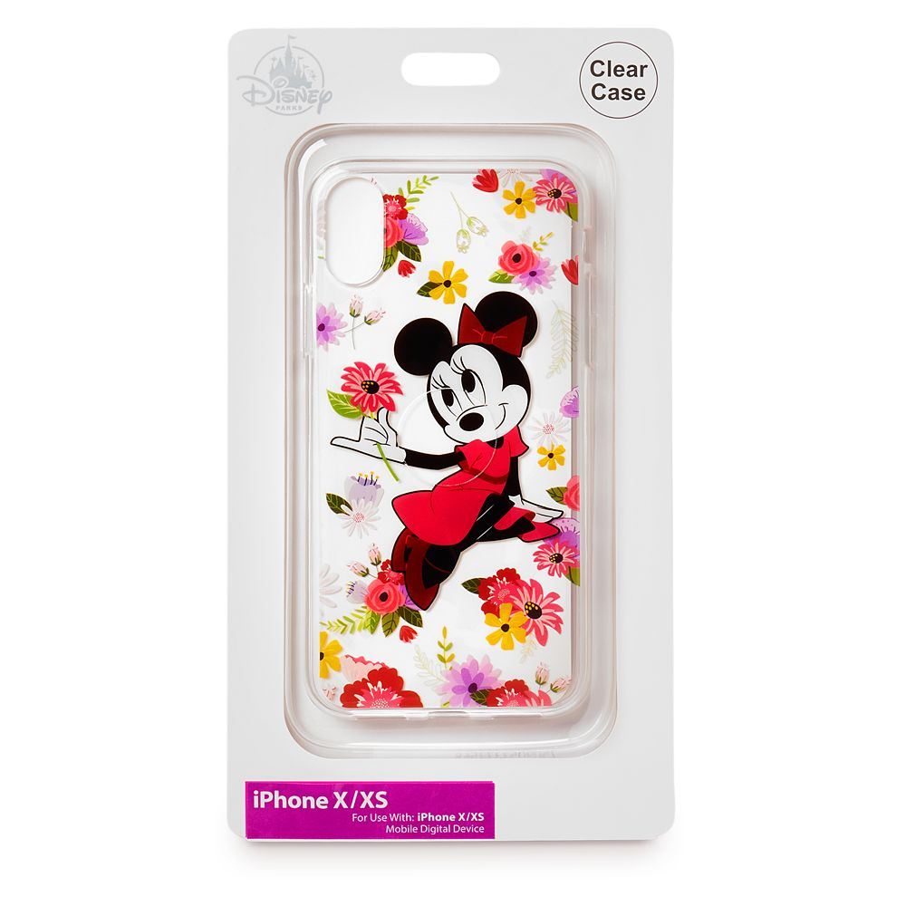 Minnie Mouse Floral iPhone X/XS Clear Case