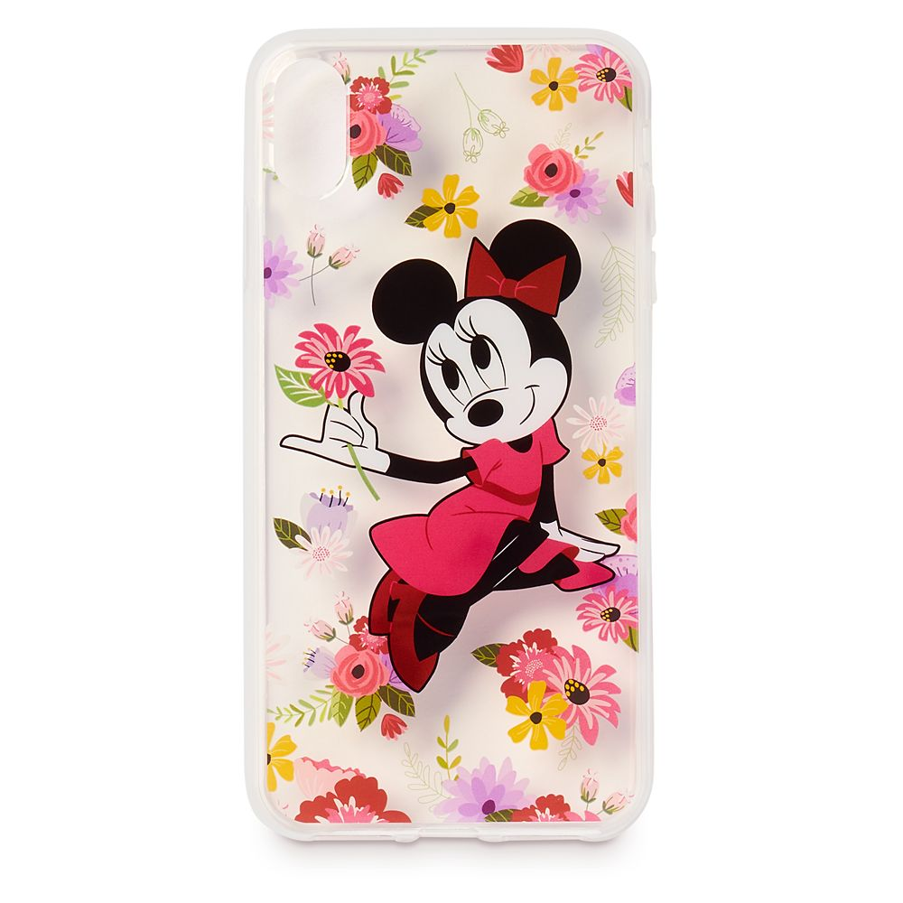 Minnie Mouse Floral iPhone XS Max Clear Case