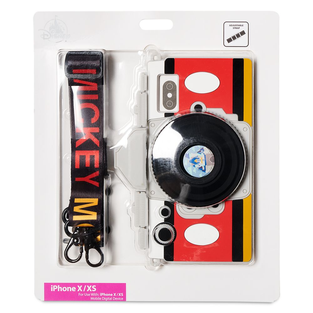 Mickey Mouse Camera iPhone X/XS Case with Strap