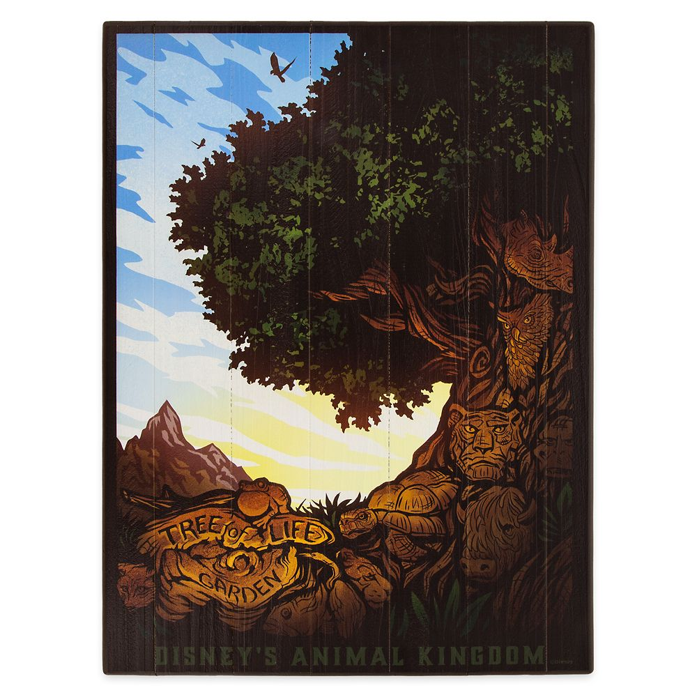 Disney's Animal Kingdom Wooden Poster