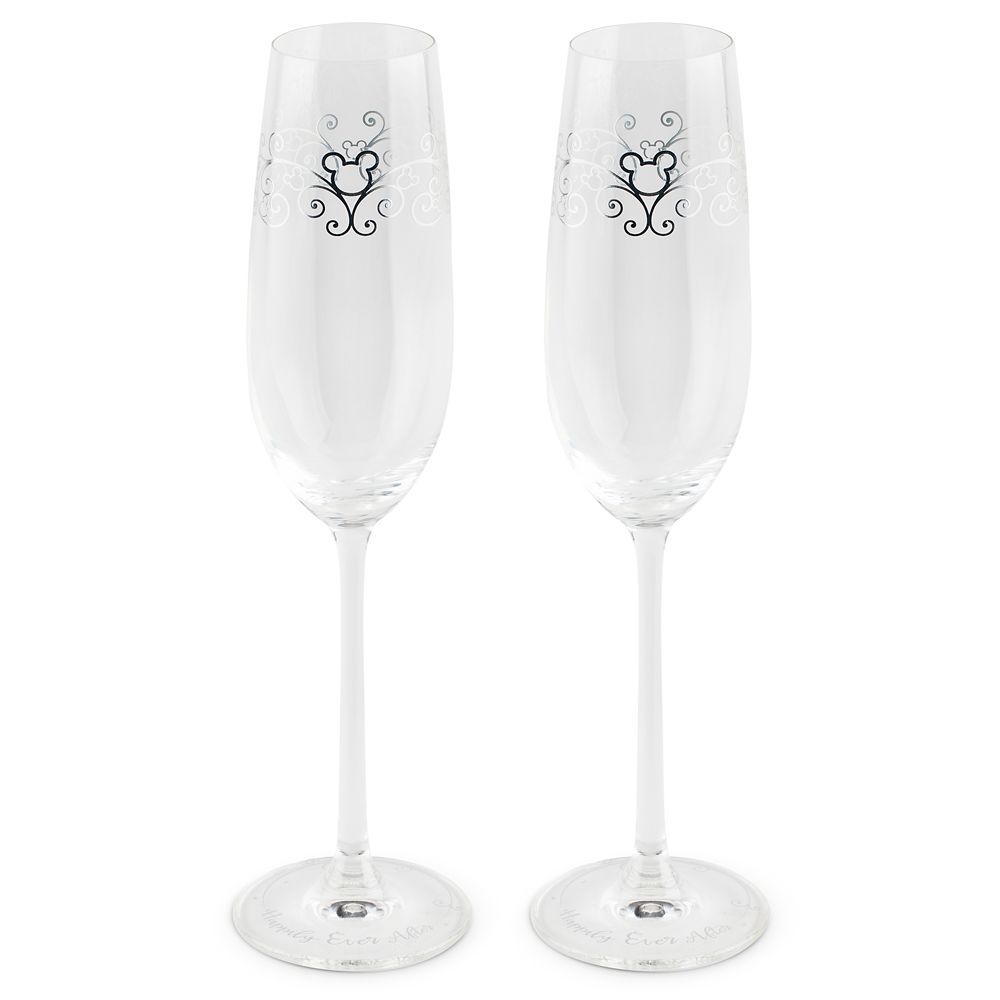 Mickey Mouse Icon Wedding Toasting Glasses