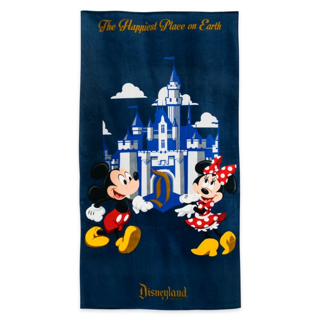 Mickey and Minnie Mouse Beach Towel – Disneyland