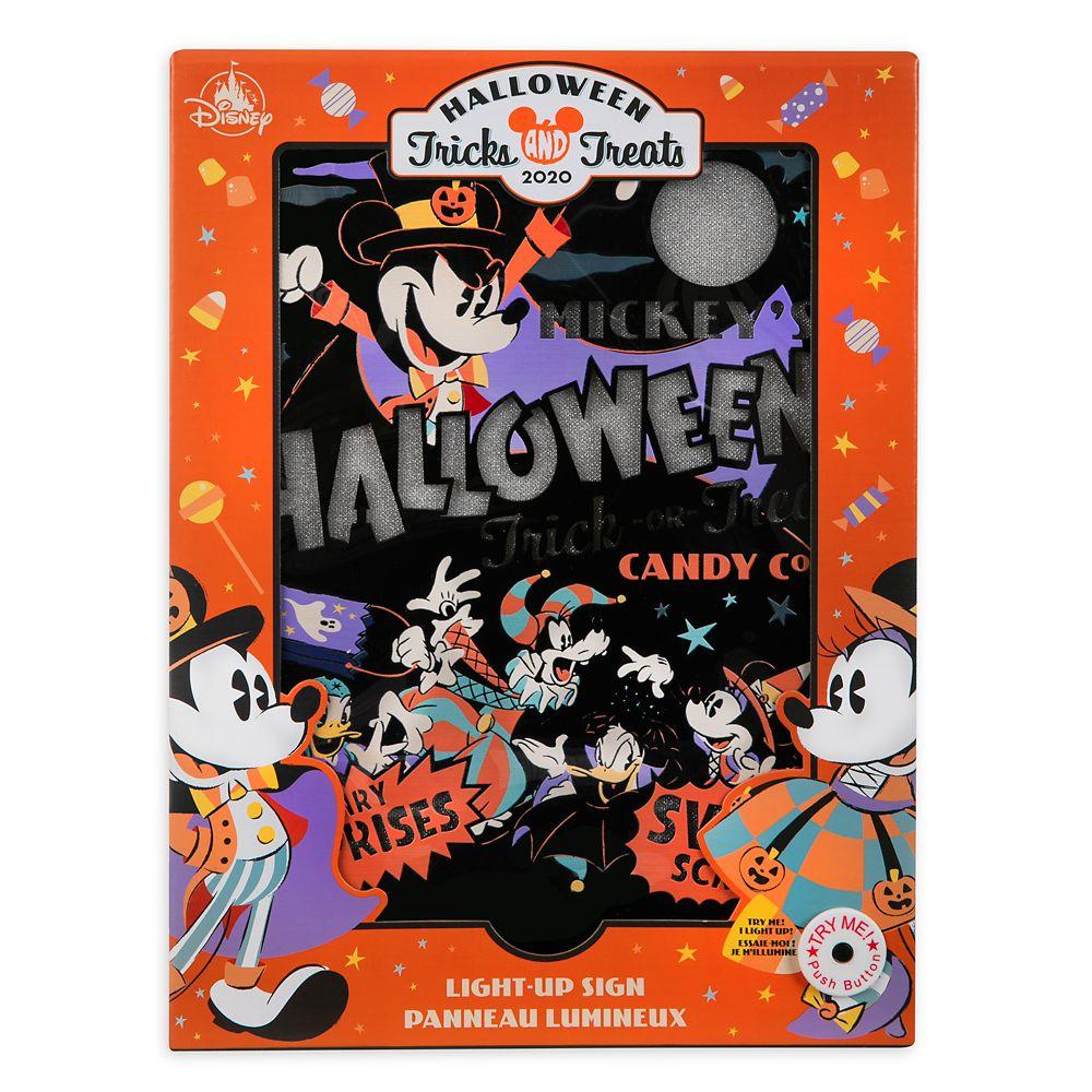 Halloween Light 2020 Mickey Mouse and Friends Halloween Light Up Sign | shopDisney