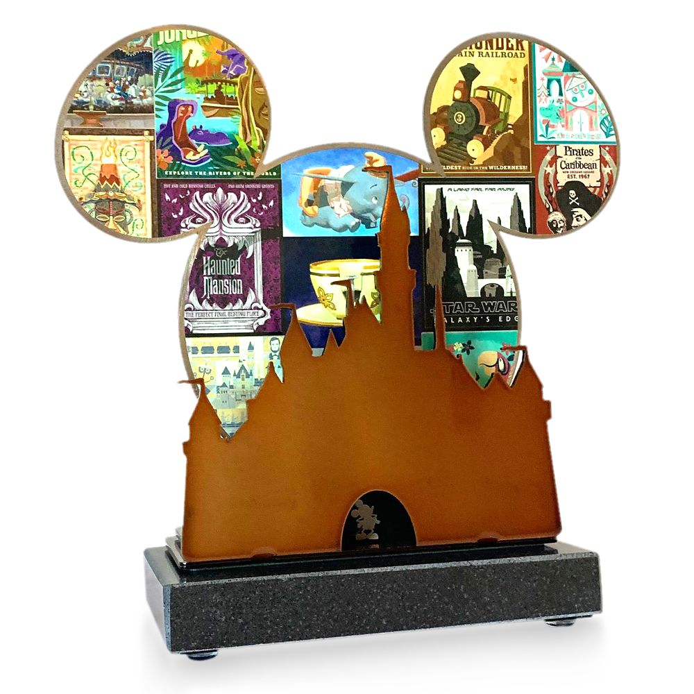 Disneyland 65th Anniversary Metal Objet d'Art
