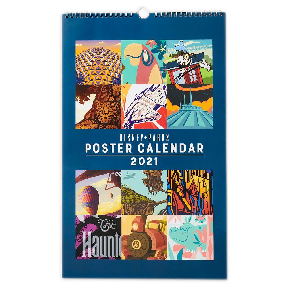 Disney Parks Poster Calendar 2021