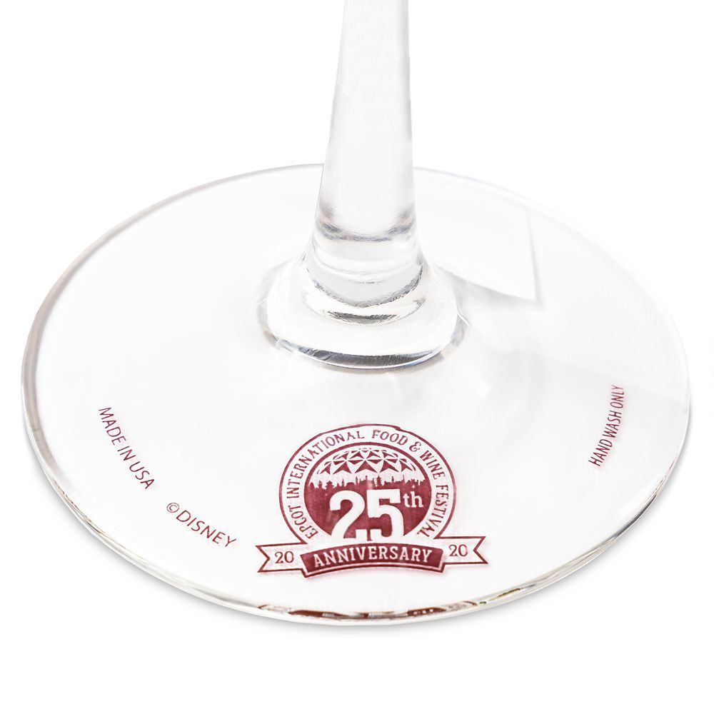 Epcot International Food & Wine Festival 25th Anniversary Wine Glass