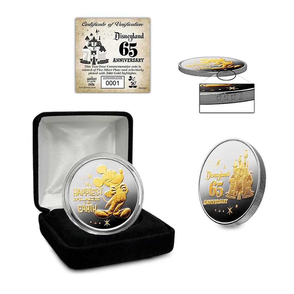 Disneyland 65th Anniversary Commemorative Coin – Limited Edition