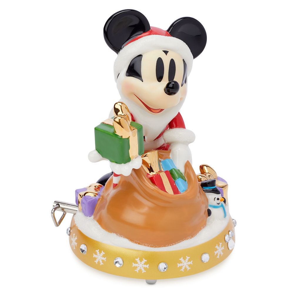 Santa Mickey Mouse Musical Figurine