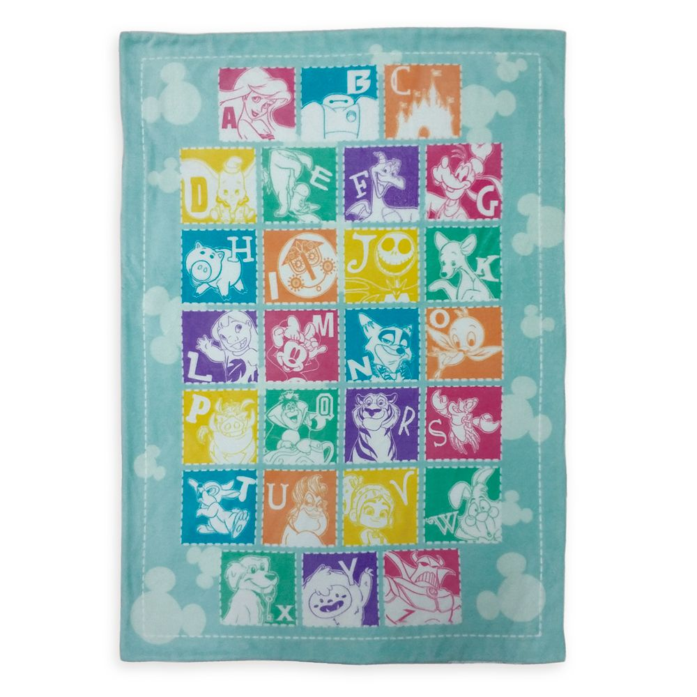 Disney Parks Alphabet Throw Blanket for Toddlers