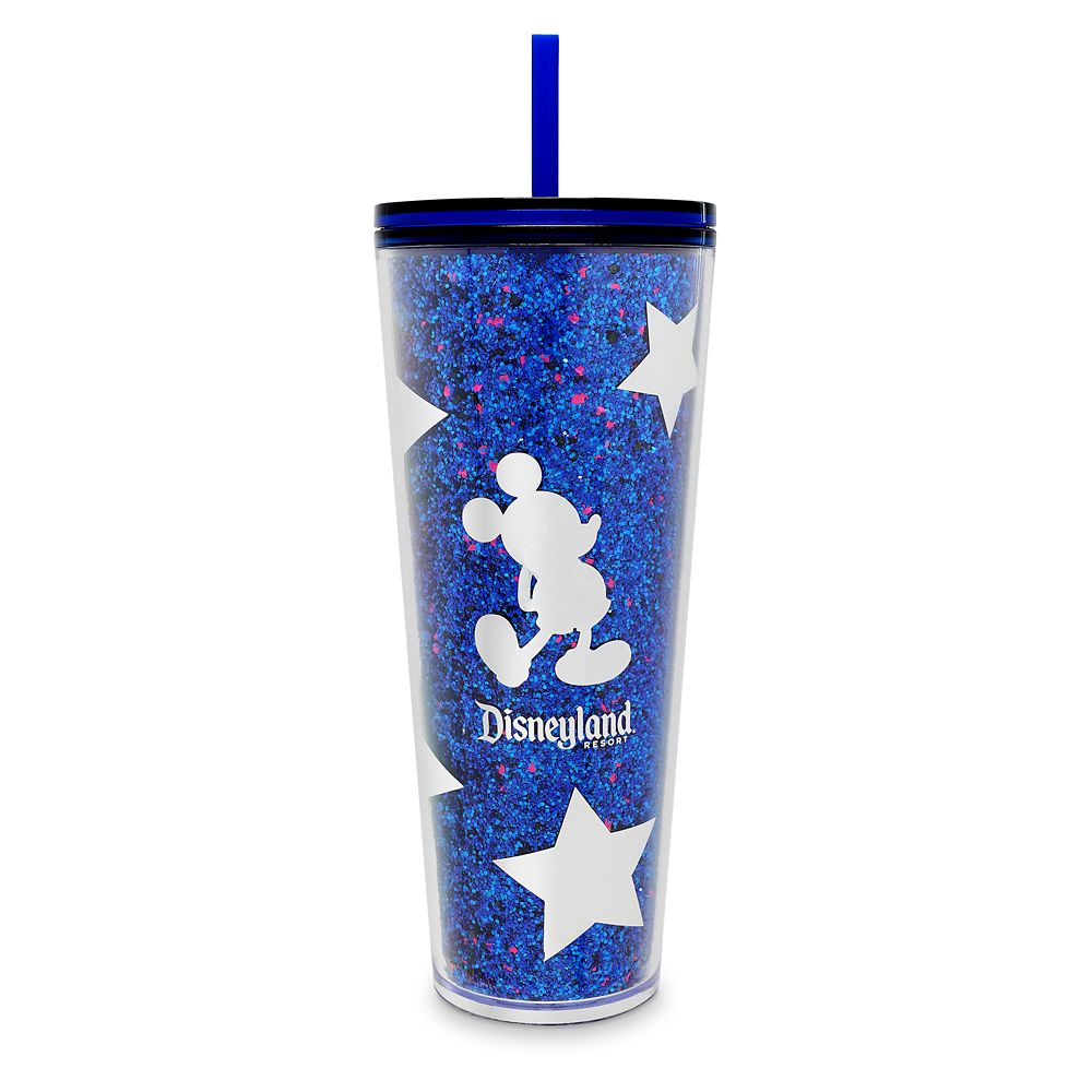 Mickey Mouse Tumbler with Straw by Starbucks – Disneyland – Wishes Come True Blue