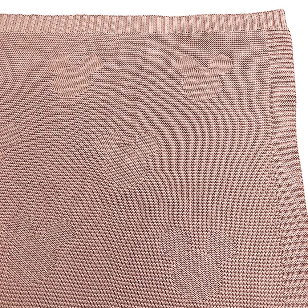 Mickey Mouse Icon Pink Knit Throw Blanket