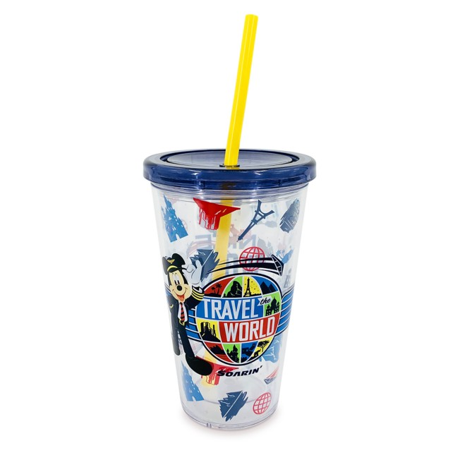 Mickey Mouse Soarin' Around the World Tumbler with Straw – Walt Disney World