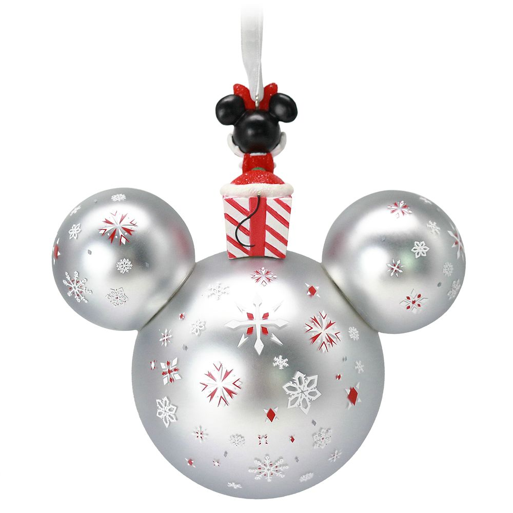Minnie Mouse Icon Ball Ornament with Figurine