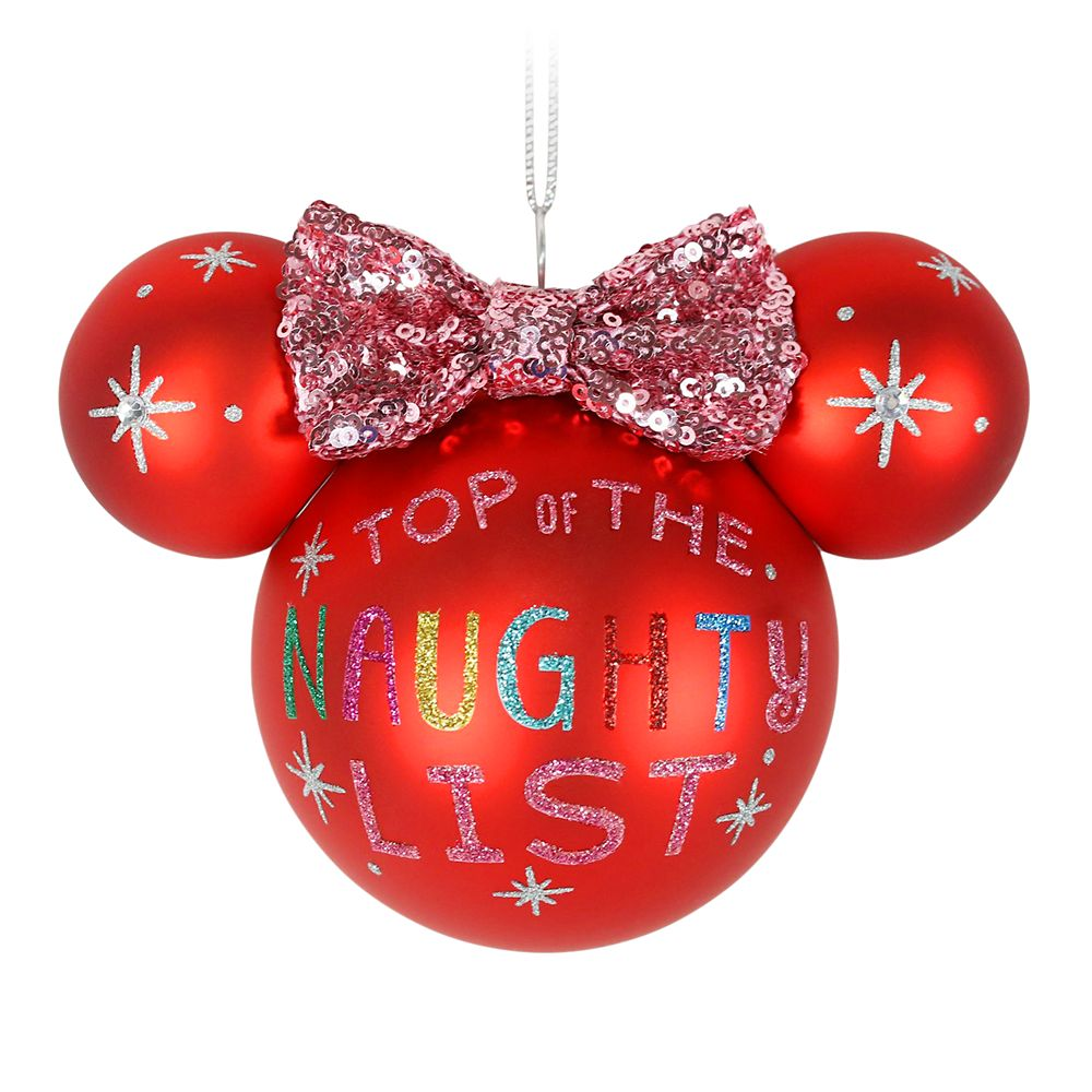 Minnie Mouse Icon Ball Ornament – Naughty