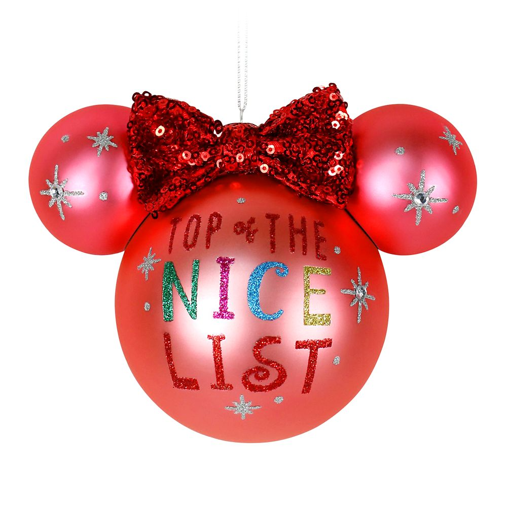 Minnie Mouse Icon Ball Ornament – Nice