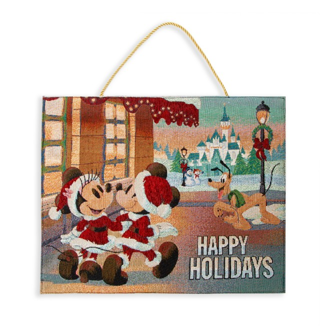 Mickey Mouse and Friends Holiday Light-Up Tapestry