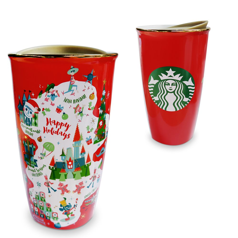 2019 Disney Parks Starbucks Been There Happy Holiday Travel Tumbler Christmas