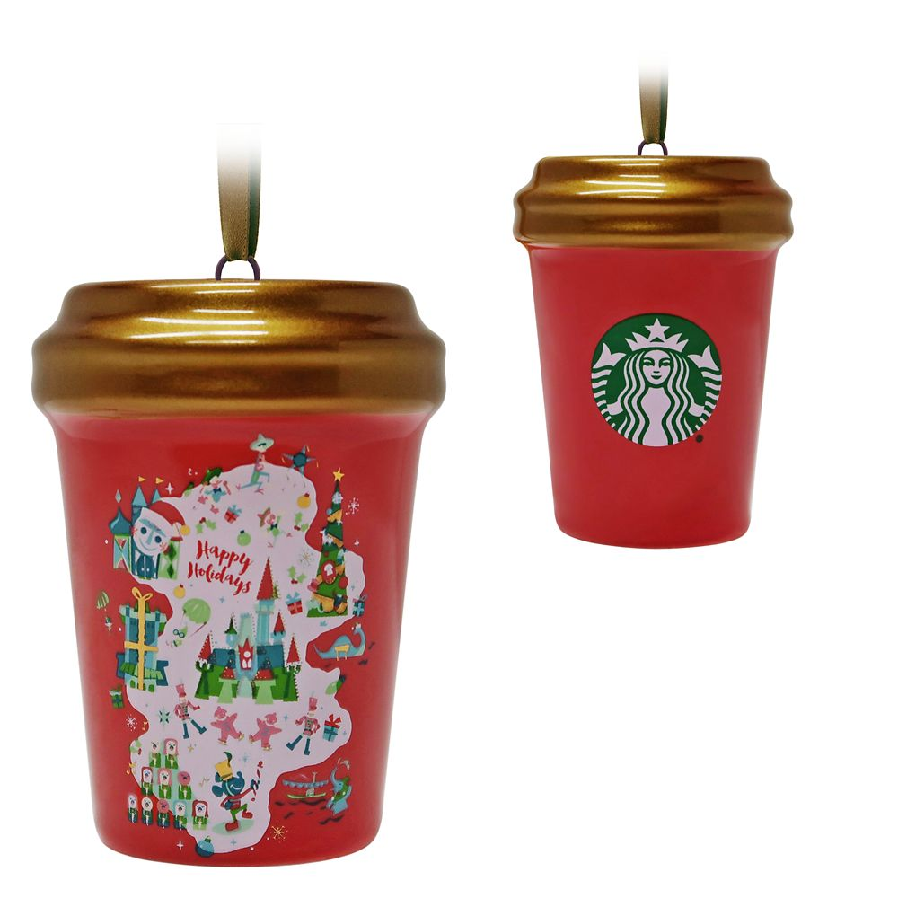 Disney Parks Happy Holidays Starbucks Cup Ornament