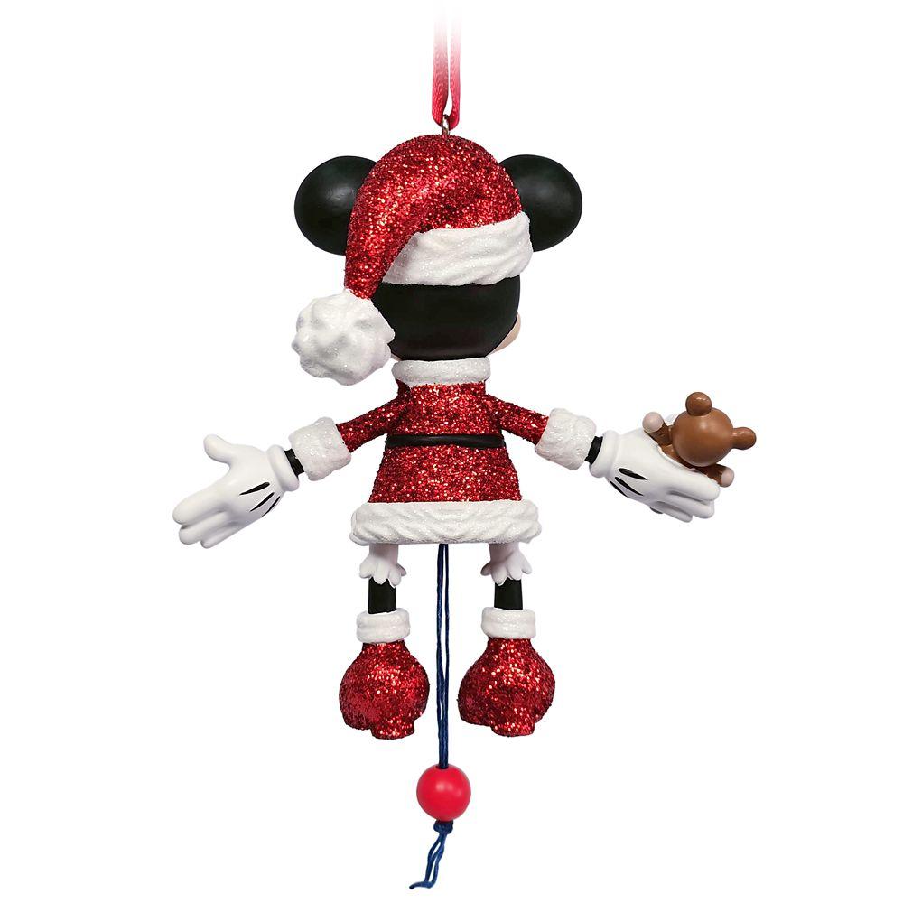 Santa Minnie Mouse Articulated Figural Ornament