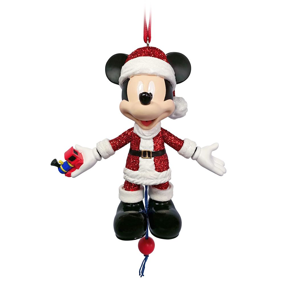 Santa Mickey Mouse Articulated Figural Ornament