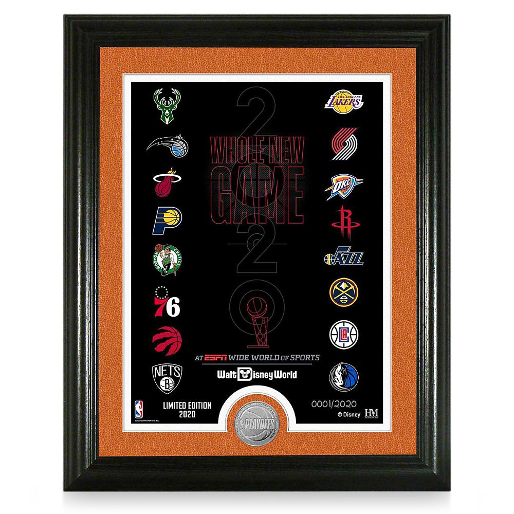 ''Whole New Game'' Framed Lithograph with NBA Coin – Limited Edition