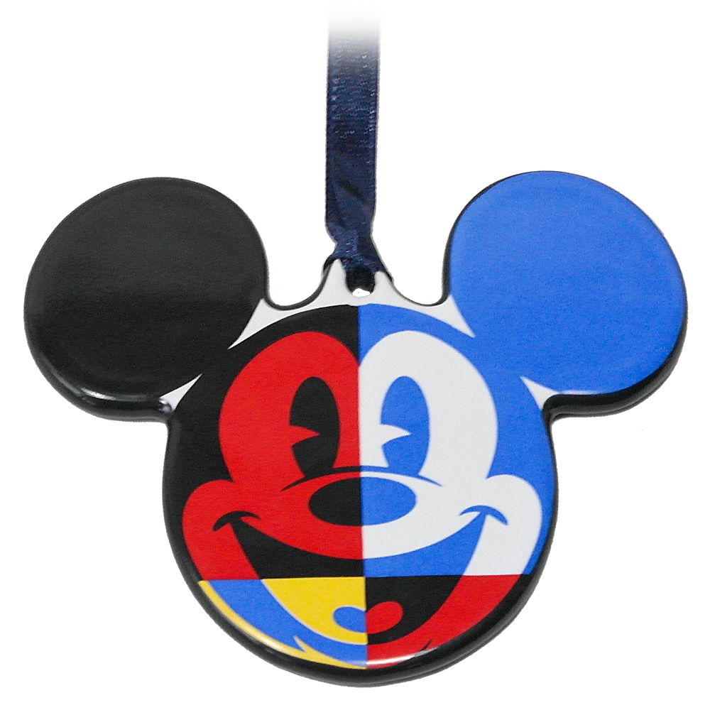 Mickey Mouse Icon Ceramic Ornament – Disneyland 2021
