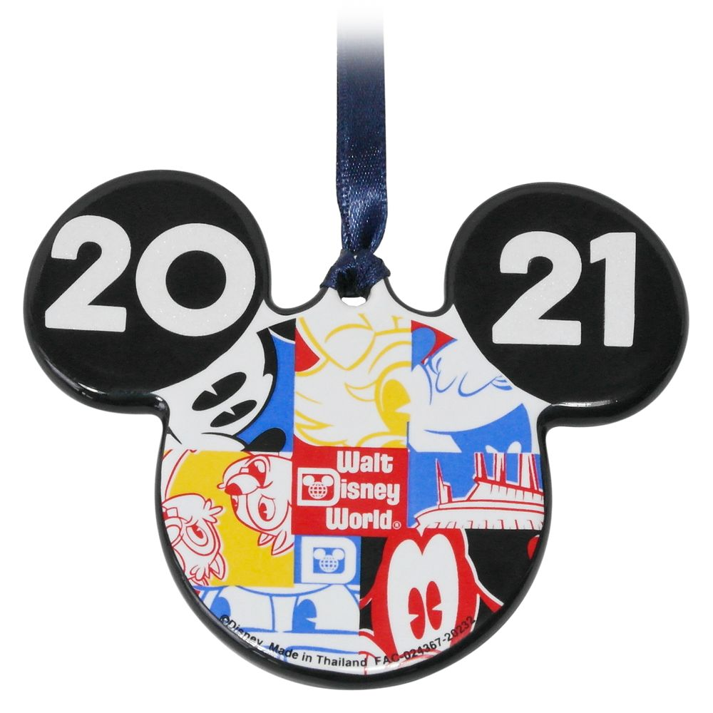 Mickey Mouse Icon Ceramic Ornament – Walt Disney World 2021