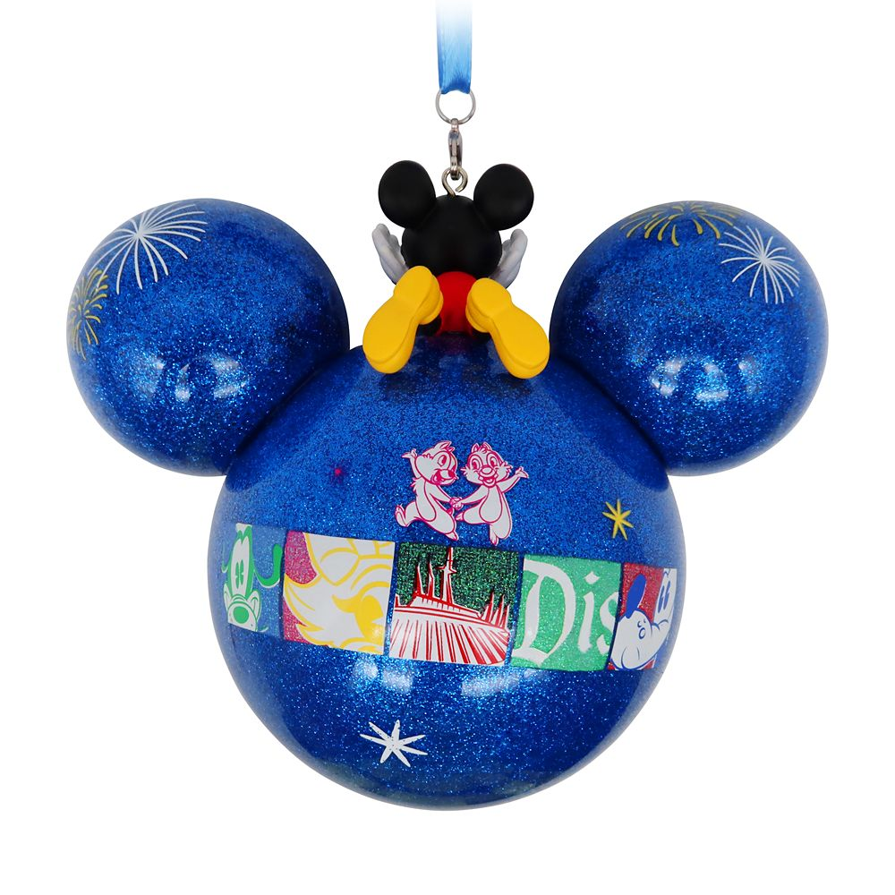 Mickey Mouse Icon Glass Ball Ornament – Disneyland 2021
