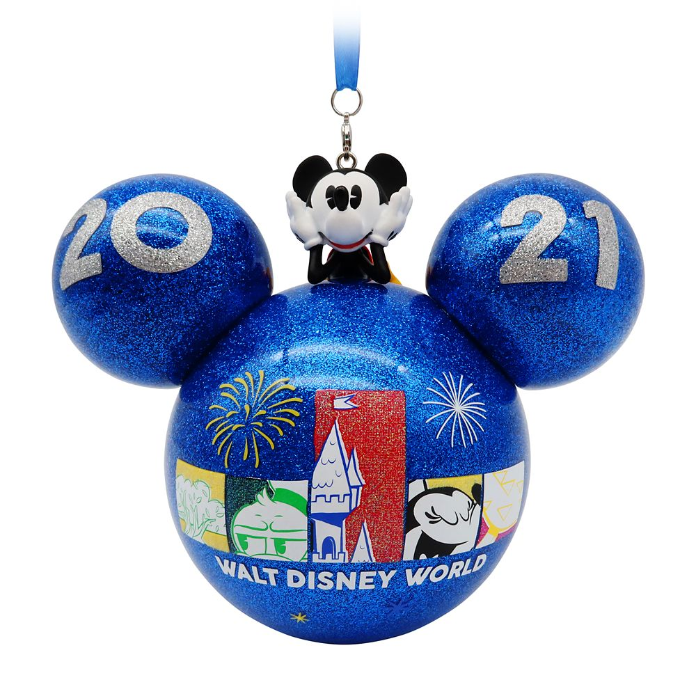 Mickey Mouse Icon Glass Ball Ornament – Walt Disney World 2021