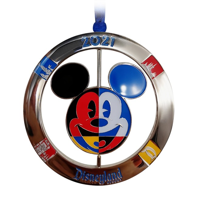 Mickey Mouse Icon Metal Spinner Ornament – Disneyland 2021