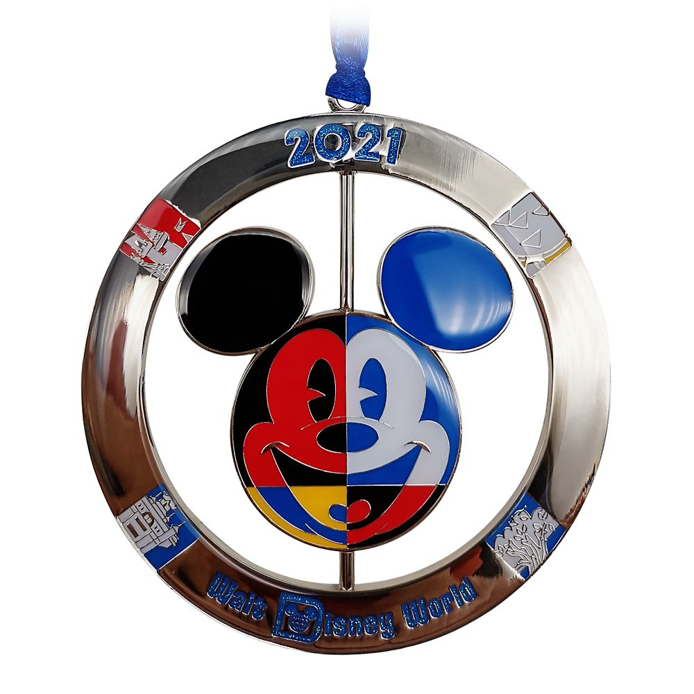 Mickey Mouse Icon Metal Spinner Ornament – Walt Disney World 2021