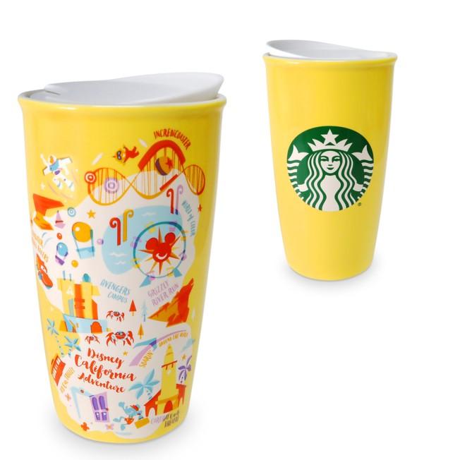 Disney California Adventure Starbucks Ceramic Travel Tumbler