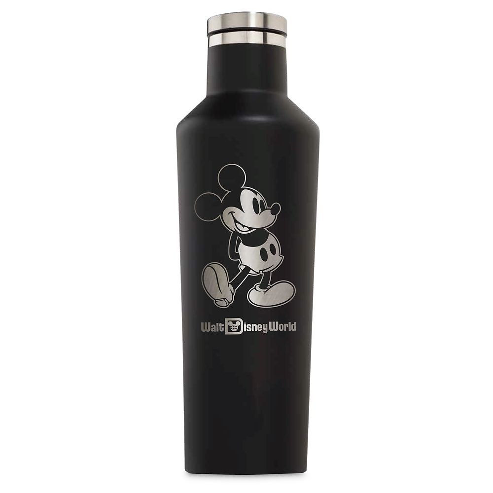 Mickey Mouse Stainless Steel Canteen by Corkcicle – Black – Walt Disney World