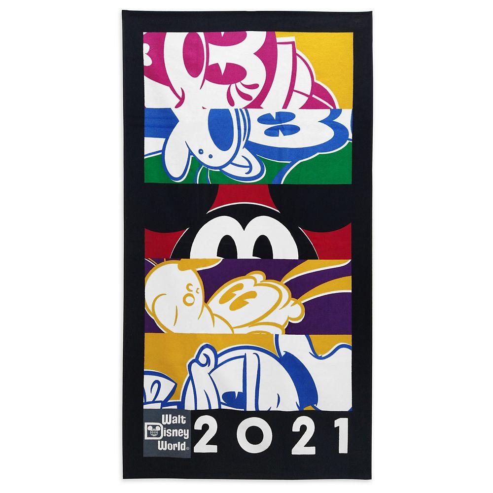 shopdisney.com - Mickey Mouse and Friends Beach Towel  Walt Disney World 2021 26.99 USD