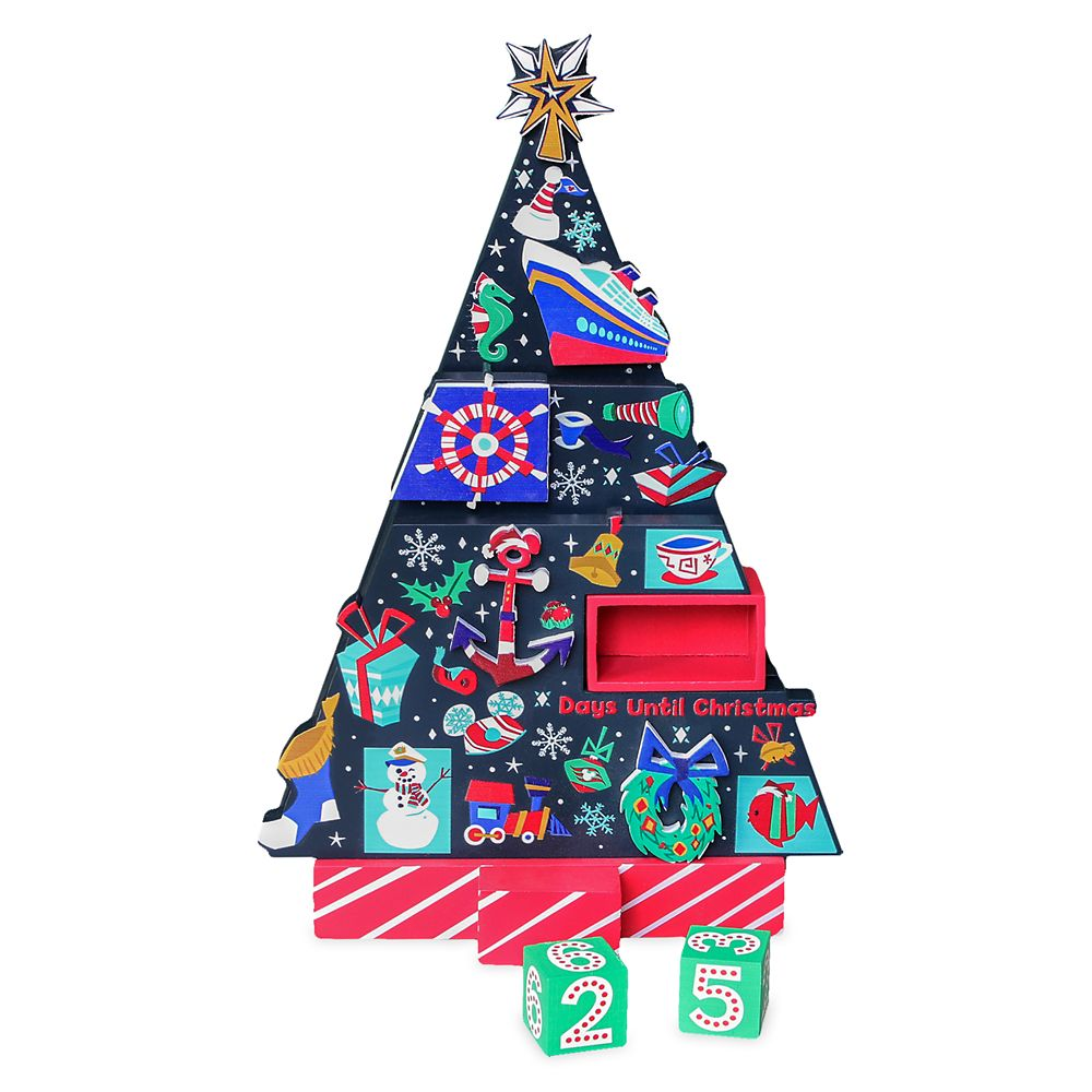 Disney Cruise Line Countdown to Christmas Wooden Holiday Tree