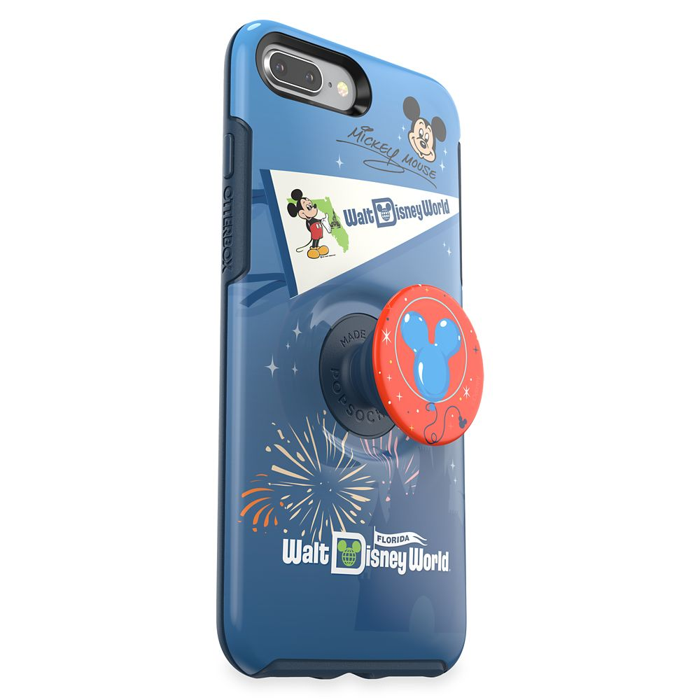 Mickey Mouse iPhone 8+/7+ Case by Otterbox with PopSockets PopGrip – Walt Disney World