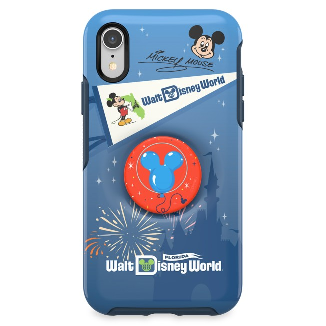 Mickey Mouse iPhone XR/11 Case by OtterBox with PopSockets PopGrip – Walt Disney World