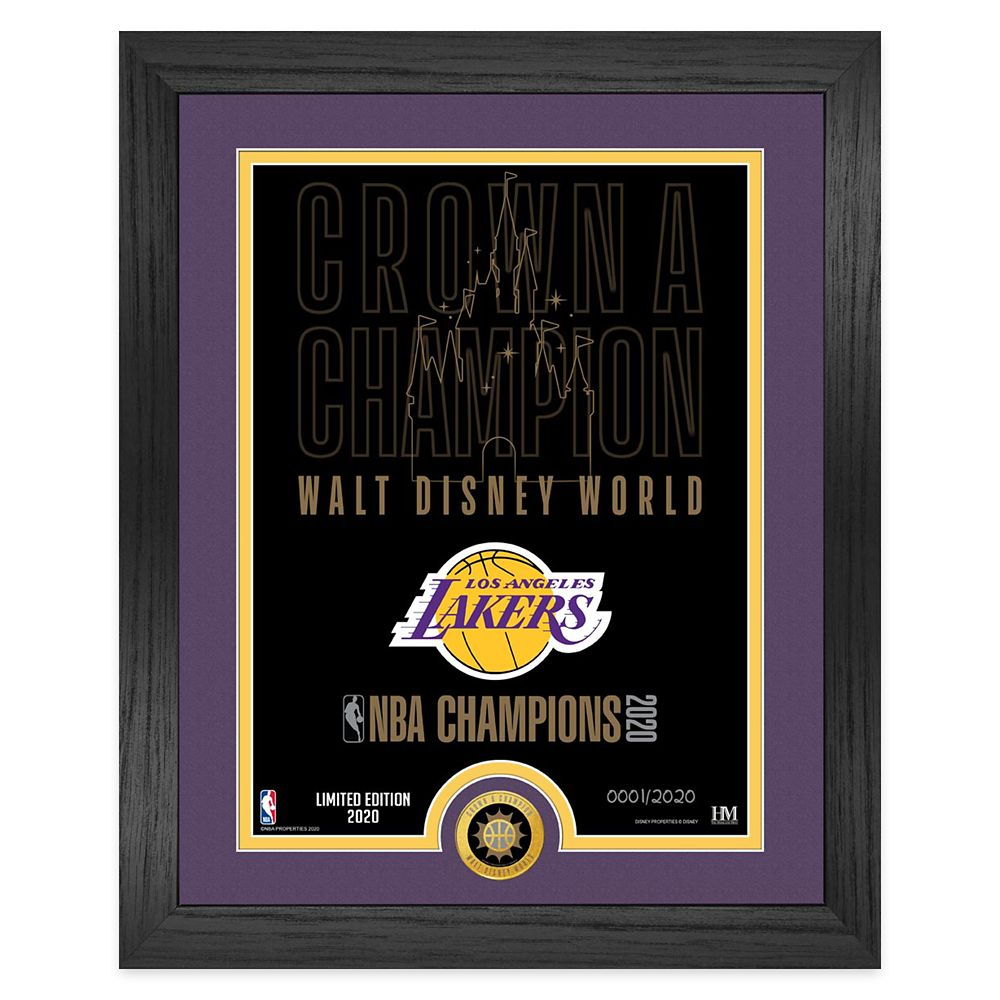 Los Angeles Lakers ''Crown a Champion'' Framed Lithograph with NBA Coin – Limited Edition