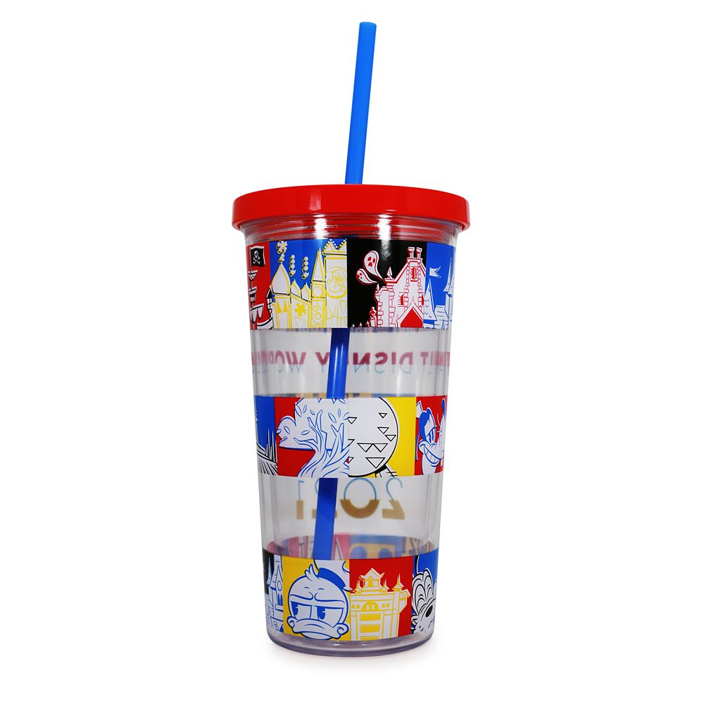 Mickey Mouse and Friends Tumbler with Straw – Walt Disney World 2021