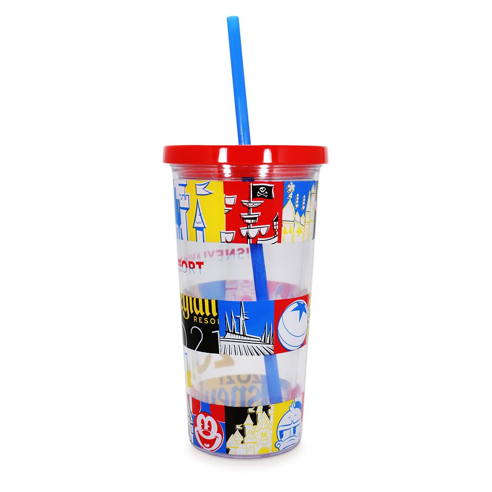 Mickey Mouse and Friends Tumbler with Straw – Disneyland 2021