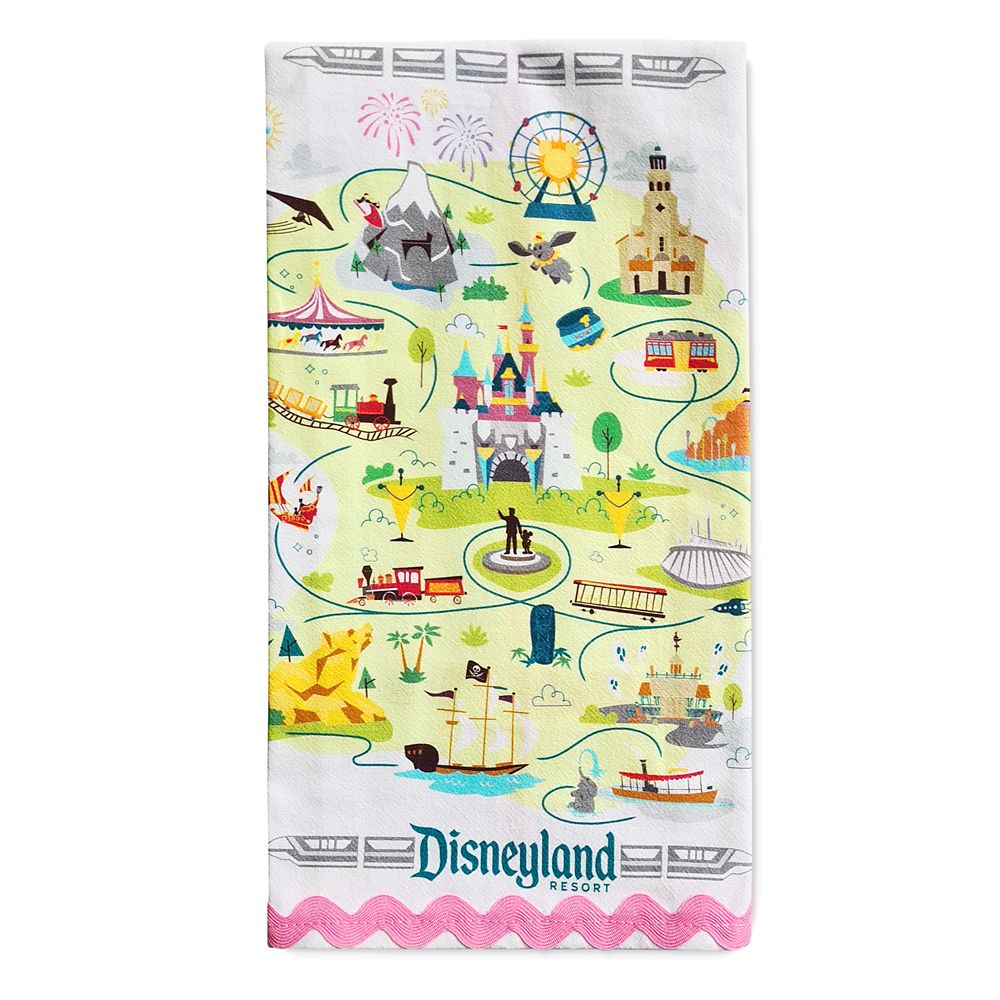 Disneyland Map Kitchen Towel