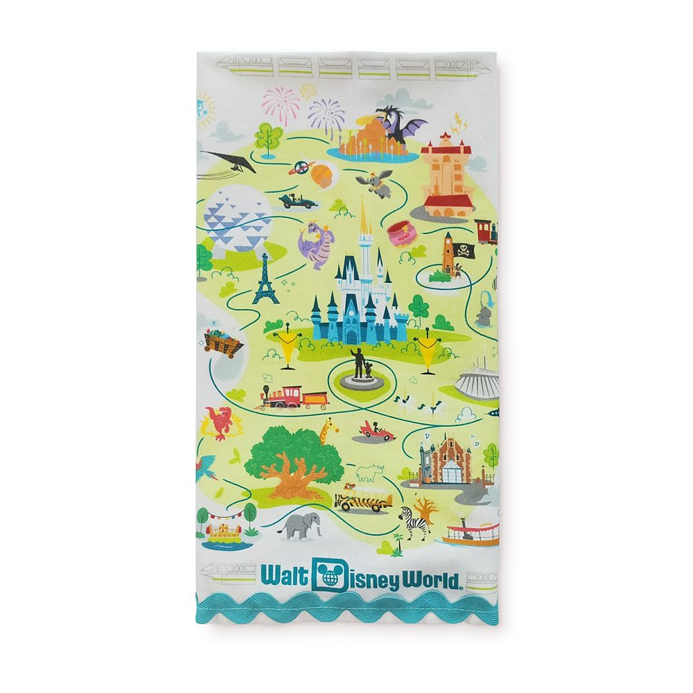 Walt Disney World Map Kitchen Towel