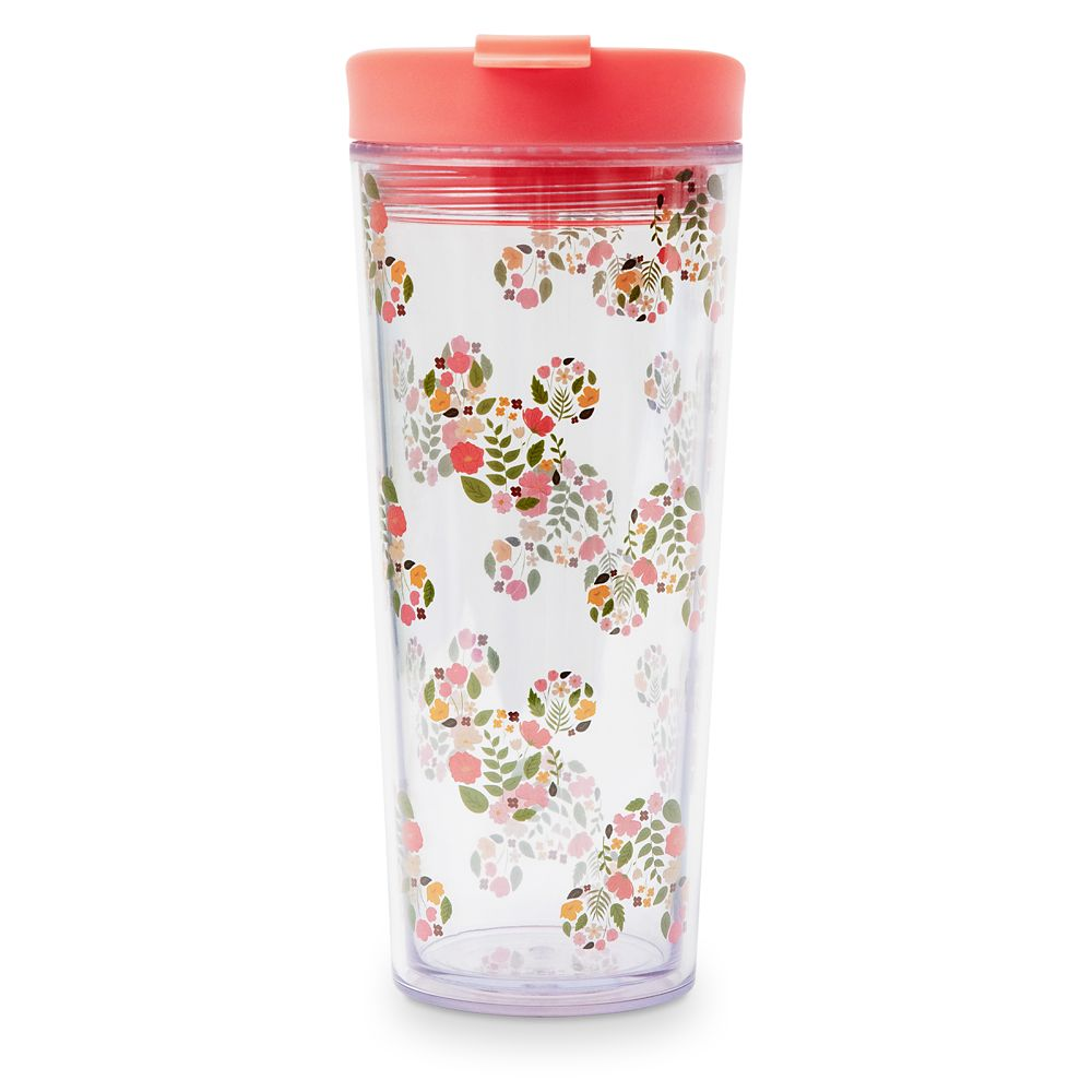 Mickey Mouse Floral Icon Travel Tumbler