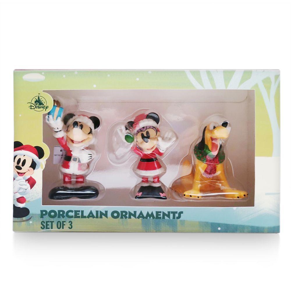 Santa Mickey Mouse and Friends Porcelain Figurine Set