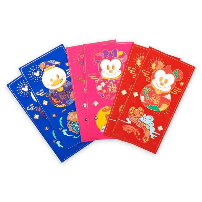 Mickey Mouse and Friends Lunar New Year 2021 Red Packet Envelopes – Disneyland