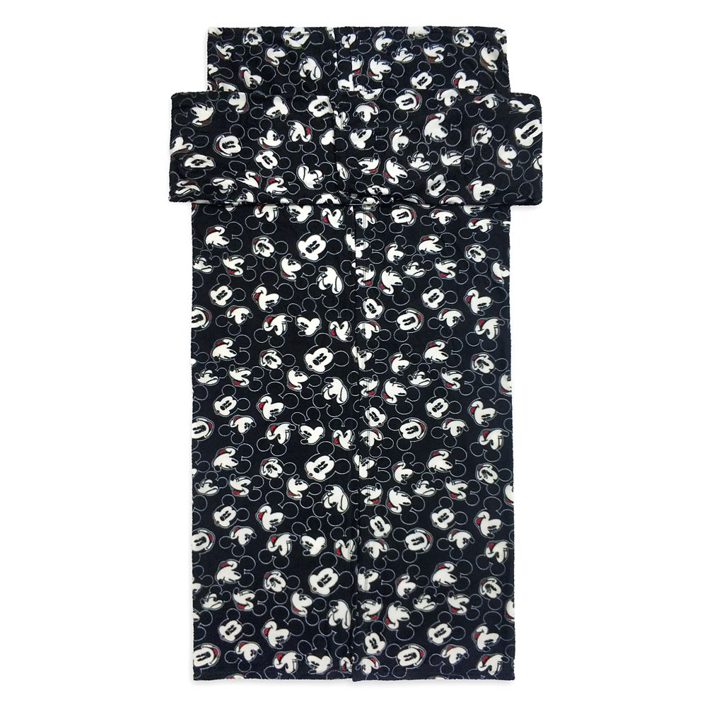 Mickey and Minnie Mouse Fleece Throw with Sleeves